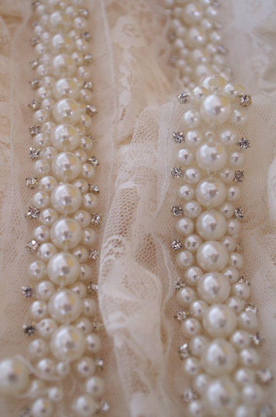 marco moldura, nupcial moldeado trim joyería ajuste, perla abalorios ...