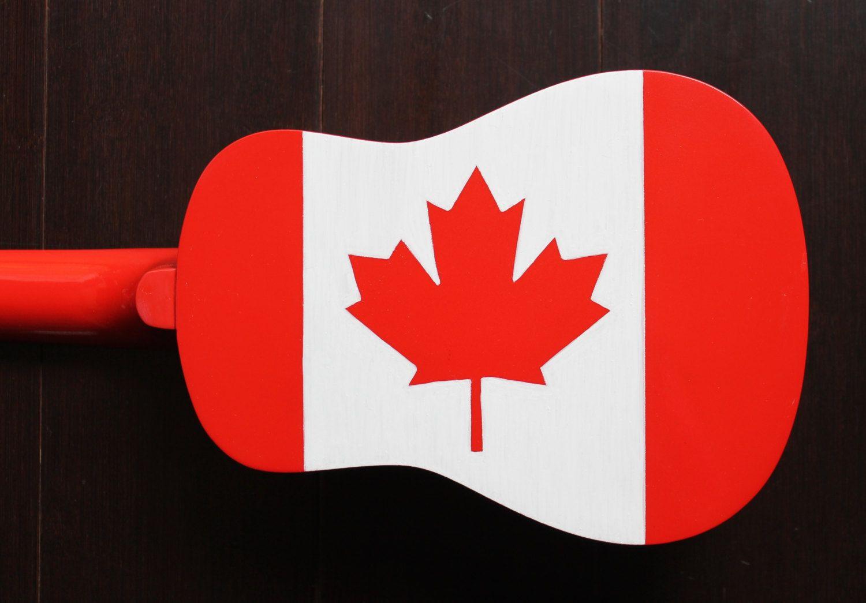 Painted Ukulele Canadian Flag By Ukuleeshee On Etsy Painted
