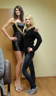 tall female height comparisons