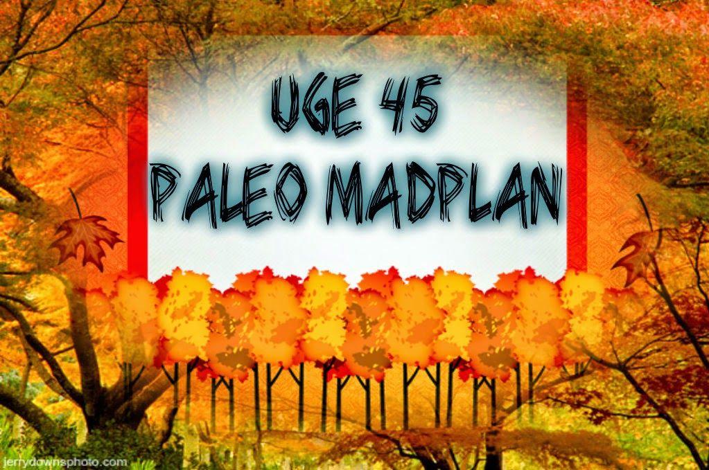 Paleolivet: Paleo madplan uge 45