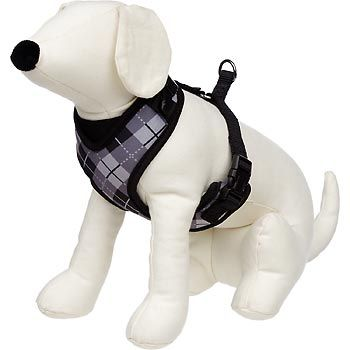 Petco Adjustable Mesh Harness For Dogs In Black Gray Argyle Print 30 Dodger Puppy Accessories Dog Harness Dogs