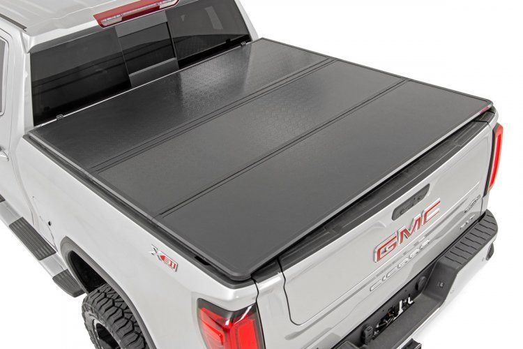 Gm Hard Tri Fold Bed Cover 15 19 Chevy Gmc 2500 3500 6 5 Bed In 2020 Truck Bed Truck Bed Covers Bed Covers