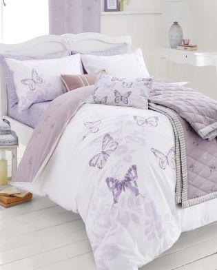 Buy Cotton Rich Mauve Butterfly Bed Set From The Next Uk Online Shop Butterfly Bedding Set Bedding Sets Purple Bedding