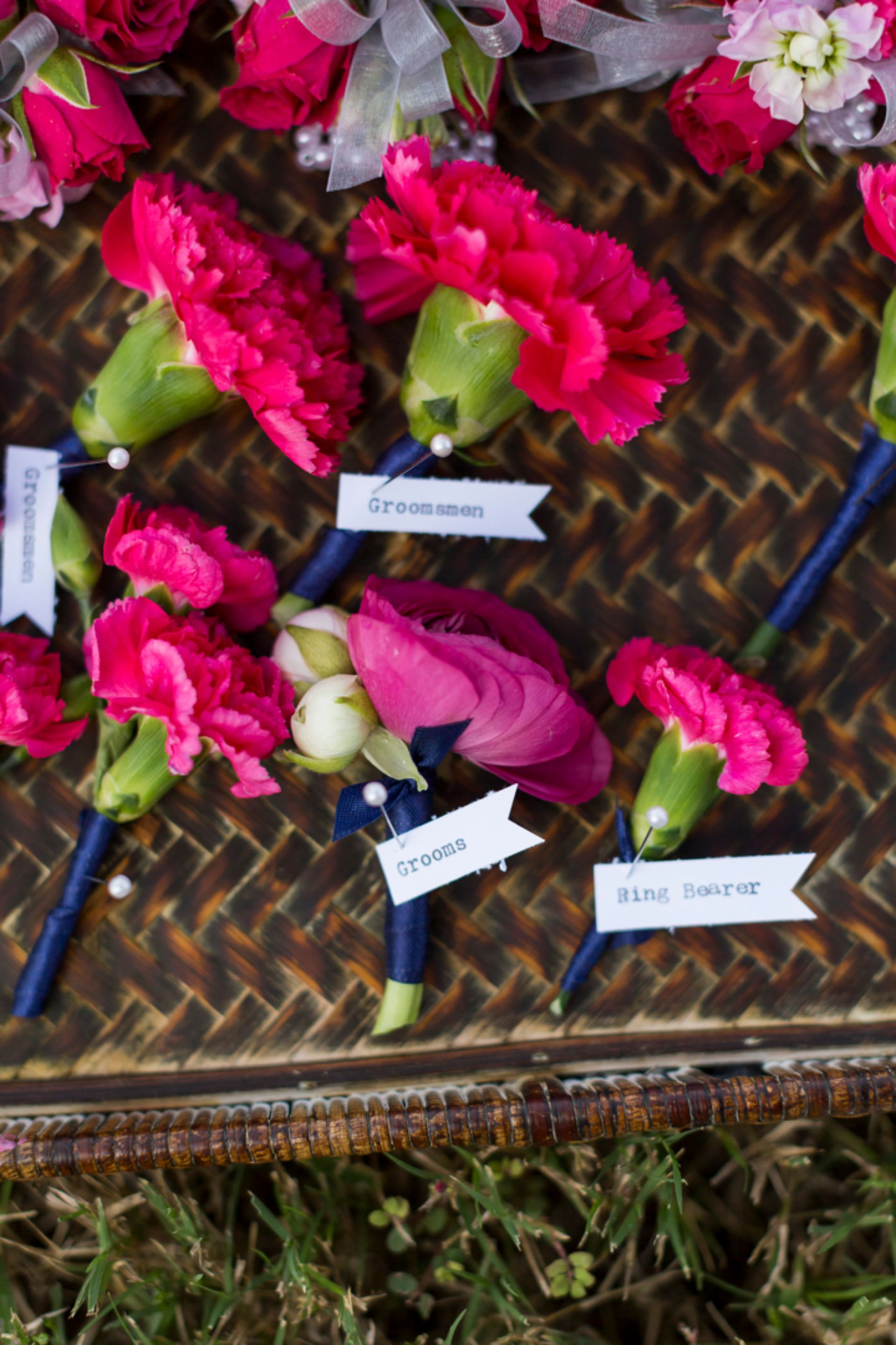 Boutonnieres Pretty Pink Fête with a Classic Convertible | Austin ...