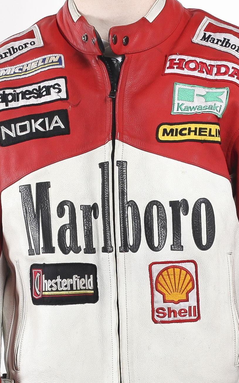 Vintage Marlboro Racing Leather Motorcycle Jacket Sz Xxl Leather Motorcycle Jacket Jackets Motorcycle Jacket