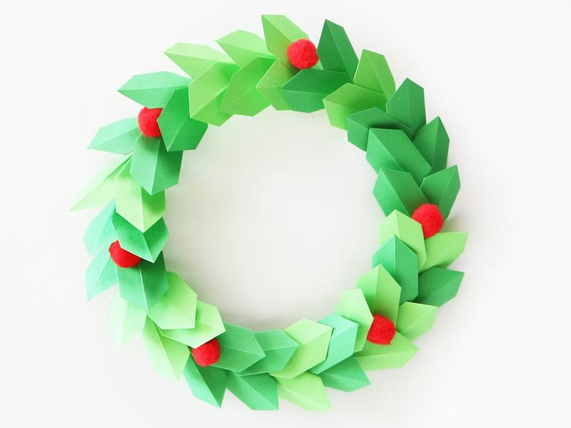 인테리어 소품 크리스마스 리스 종이접기로 쉽게 만들기 네이버 블로그 크리스마스 리스 종이 꽃 벽 크리스마스