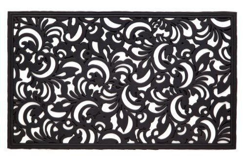 Fleur De Lis Cast Iron Vulcanized Rubber Rectangle Outdoor Mat 18x30 By Iron Gate Classic Styling And Ultra Strong C Rubber Door Mat Door Mat Recycled Rubber