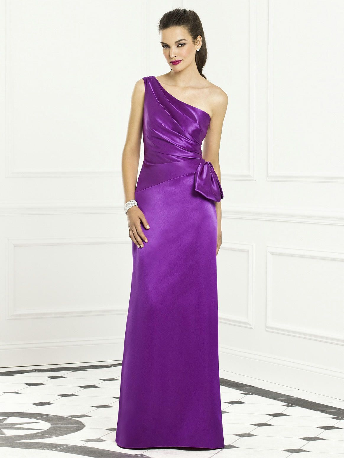 Brides maids dresses pd6399 full length sastin one shoulder brides maids dresses pd6399 full length sastin one purple bridesmaid dressesbride maid dressesone shouldermaids ombrellifo Images