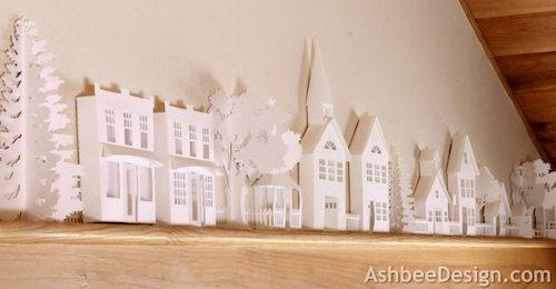 Etsy の DIY Paper village by hilemanhouse