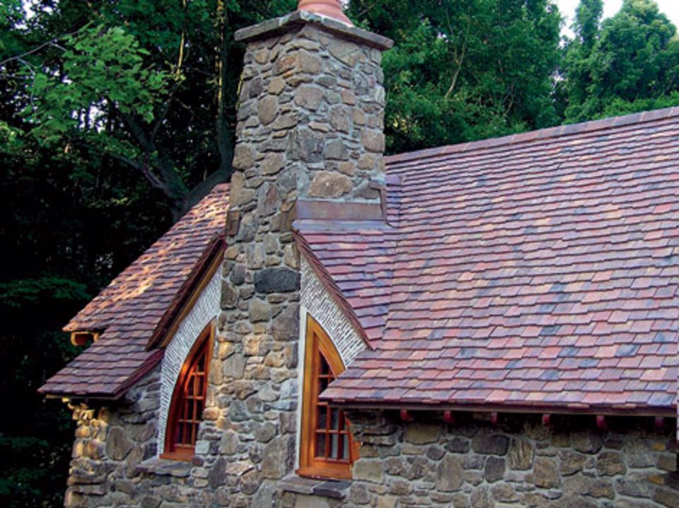 Stone Cottage Clay Tile Roof Roofing Roof Stone Cottage