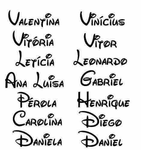 23 Nombres en letra cursiva para imprimir