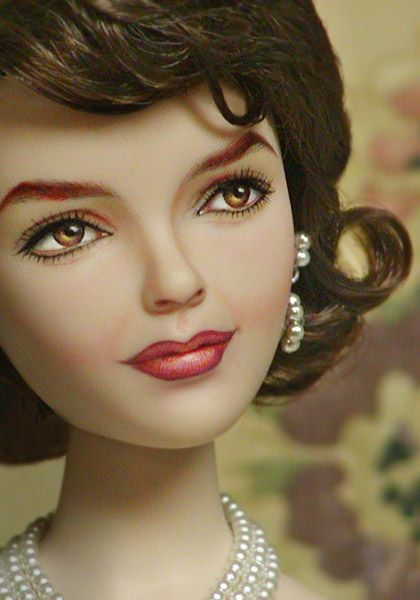 thekennedydynasty:    A repainted doll of Jackie Kennedy