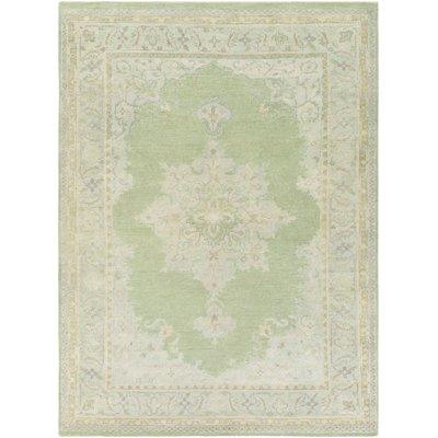 Darby Home Co Orrville Hand Knotted Green Area Rug
