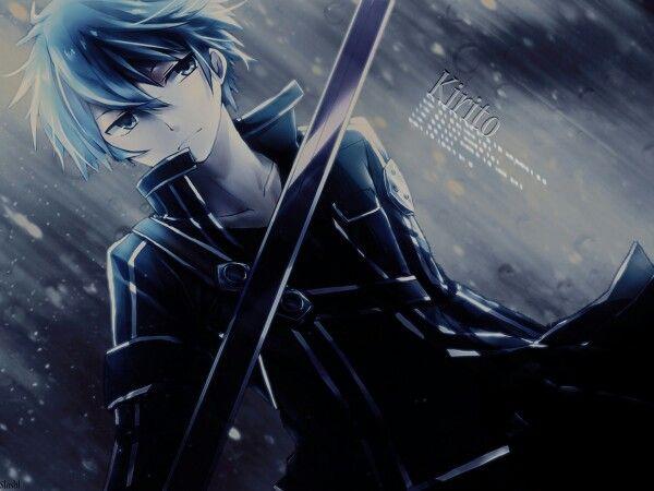 Sword art online...porque Kirito es más que sexy bajo la lluvia...