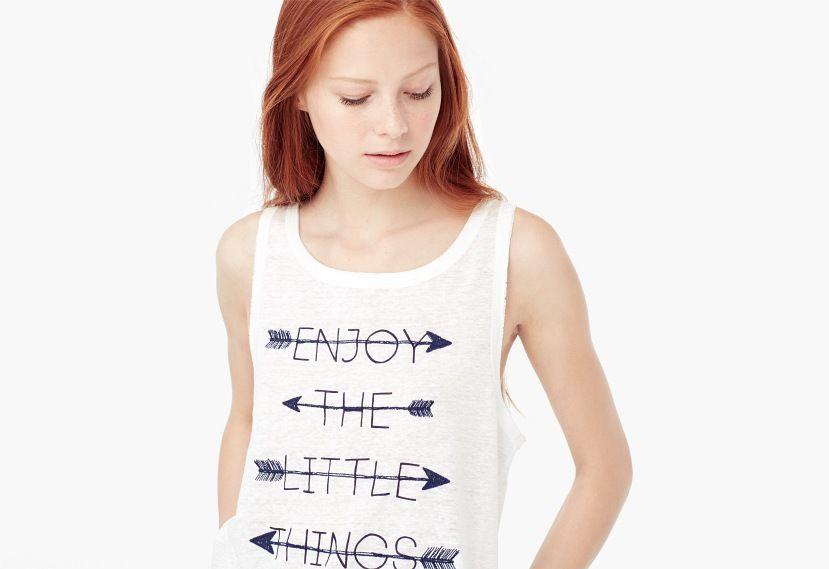 Camiseta estampada lino   MANGO