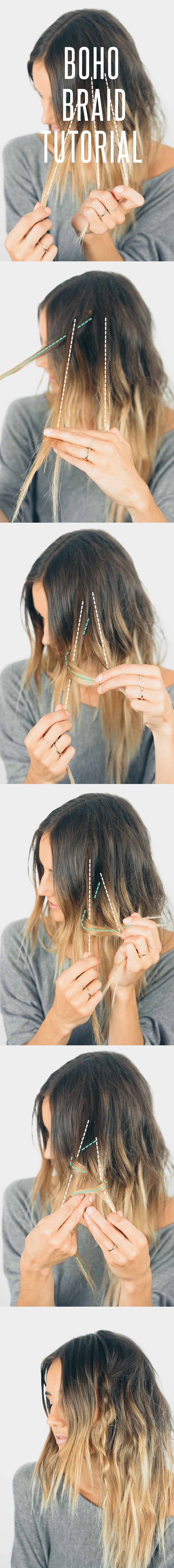 Hair tutorial boho braid braid tutorials boho and tutorials
