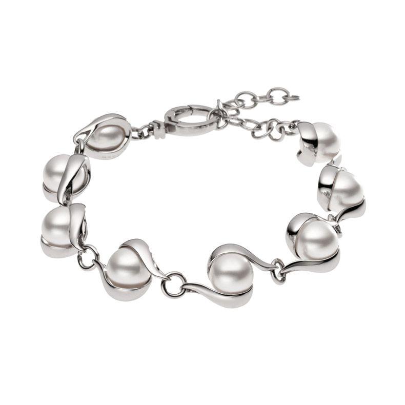 Skagen Agnethe silver pearl bracelet, SKJ0092040