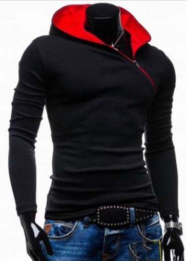 Autumn Essential Color Block Long Sleeve Hooded Sweat with cheap wholesale price, buy Autumn Essential Color Block Long Sleeve Hooded Sweat at rotita.com !