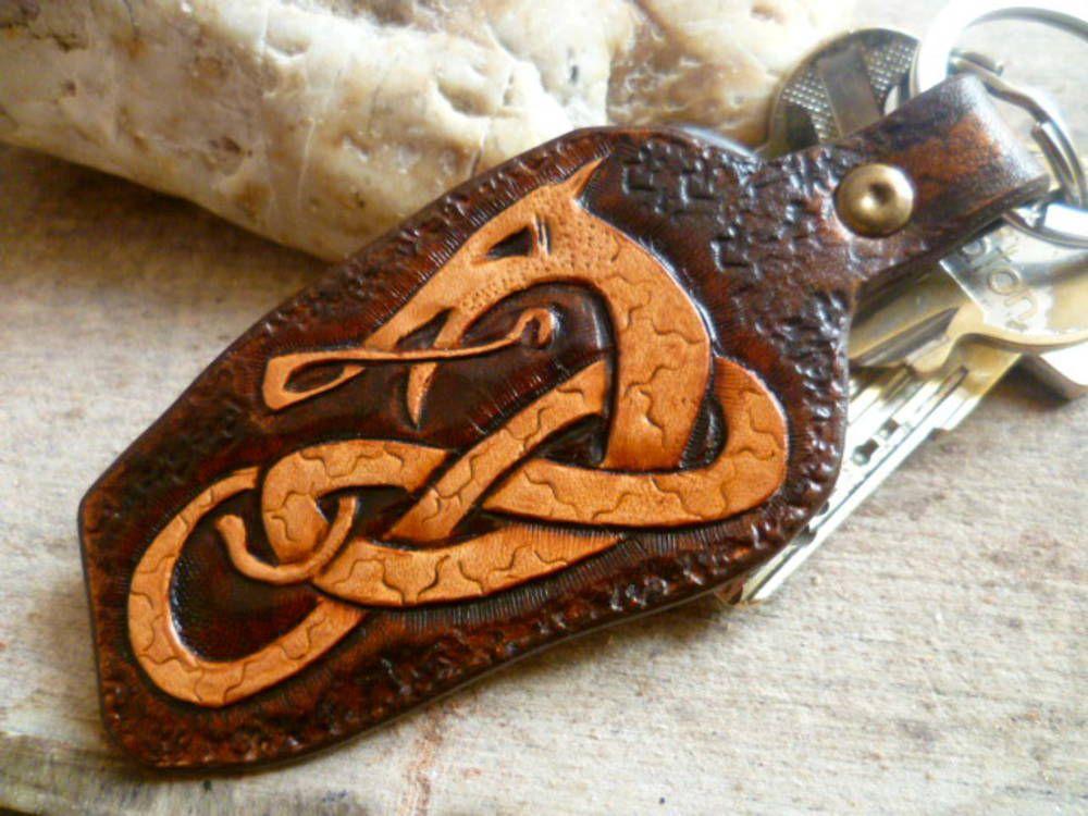 kožený prívesok na kľúče- K&k01