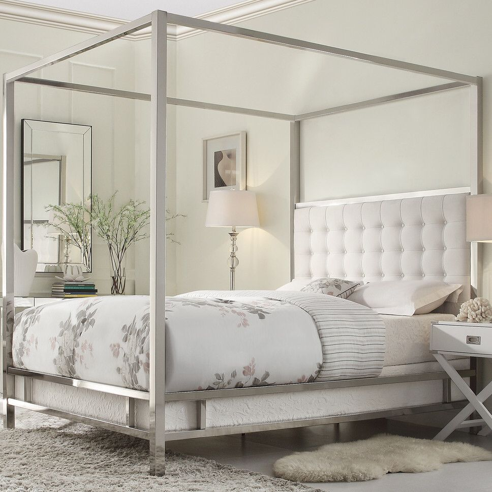 Jasper Upholstered Canopy Bed Room by room Pinterest