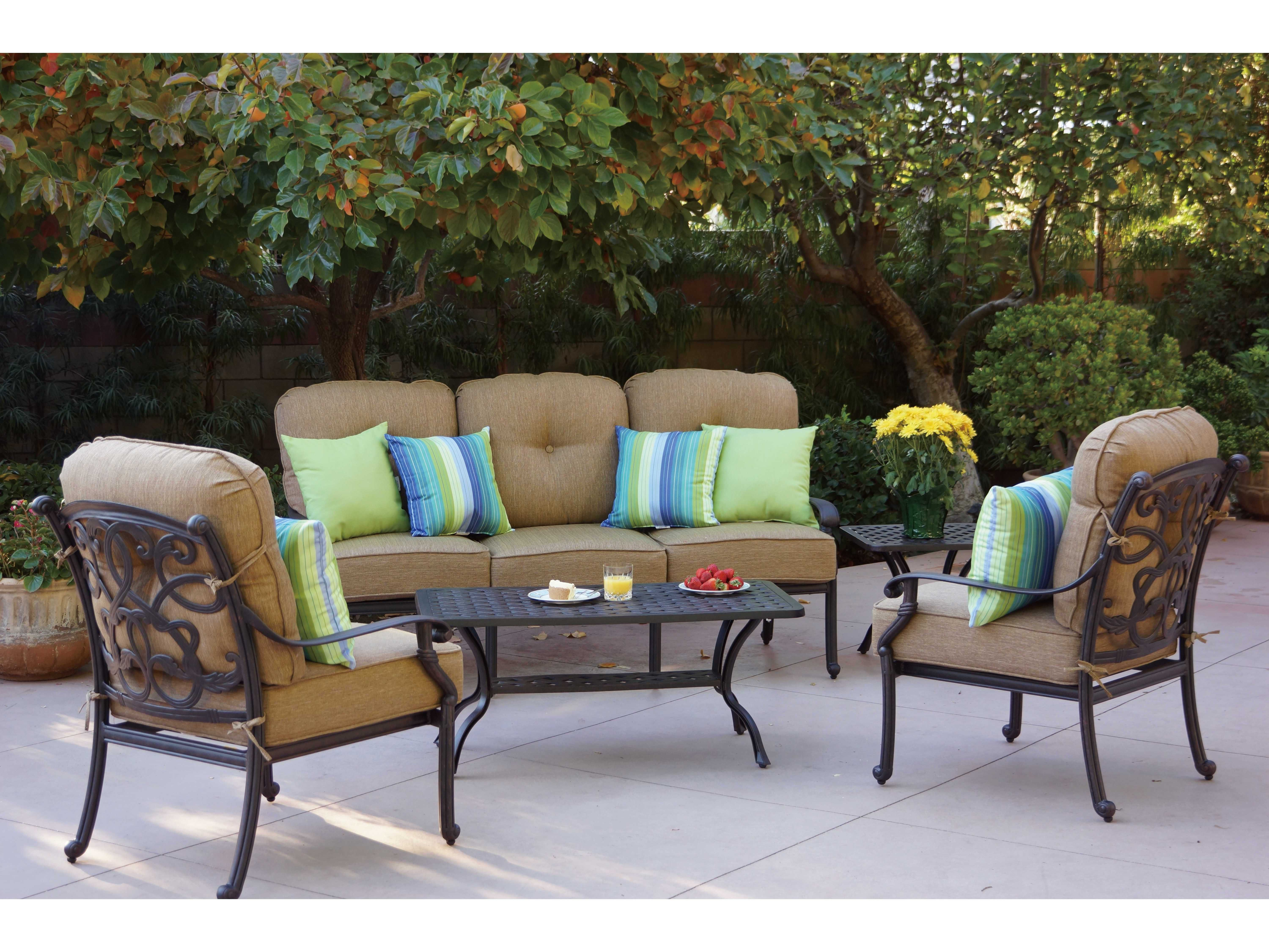 Darlee Outdoor Living Standard Santa Monica Cast Aluminum Lounge Set |  SANTAMONICA SETM