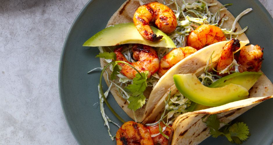 Grilled Shrimp Tacos With Pickled Onions Recipe Grilled Shrimp