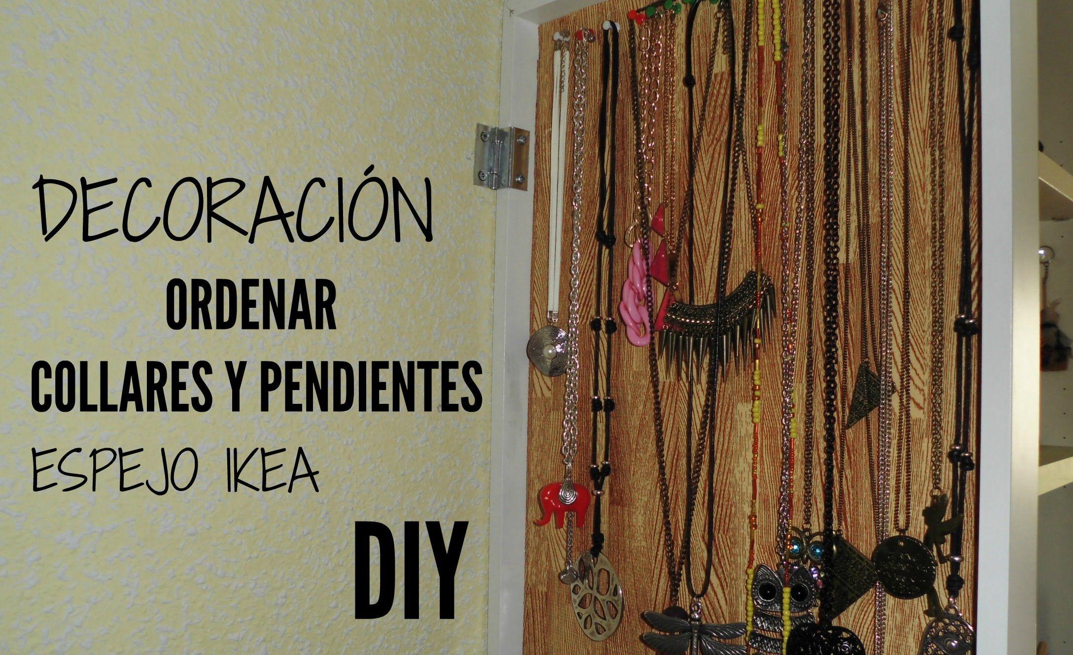 Ordenar collares y pendientes espejo ikea organize pinterest ikea espejo y pendientes - Colgador de collares ikea ...