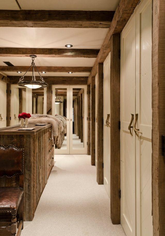 Rustic Walk In Closet Rustic Closet Luxury Homes Dream Houses