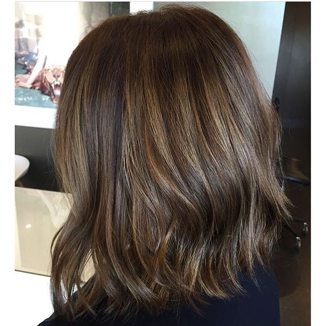 Medium Layered Brown Hair With Subtle Highlights Honey Brown Hair Cinnamon Brown Hair Brown Hair With Highlights
