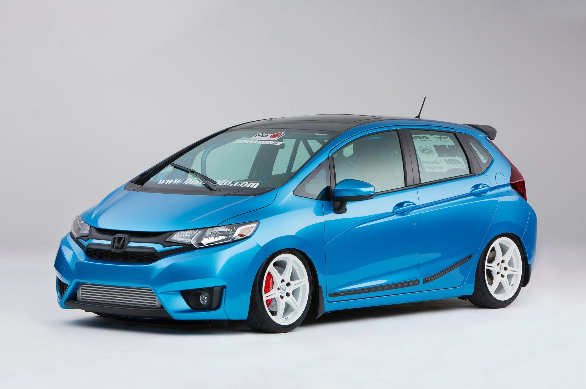 9 Modified 2015 Honda Fit Hatchbacks Debut at SEMA 車 と フィット