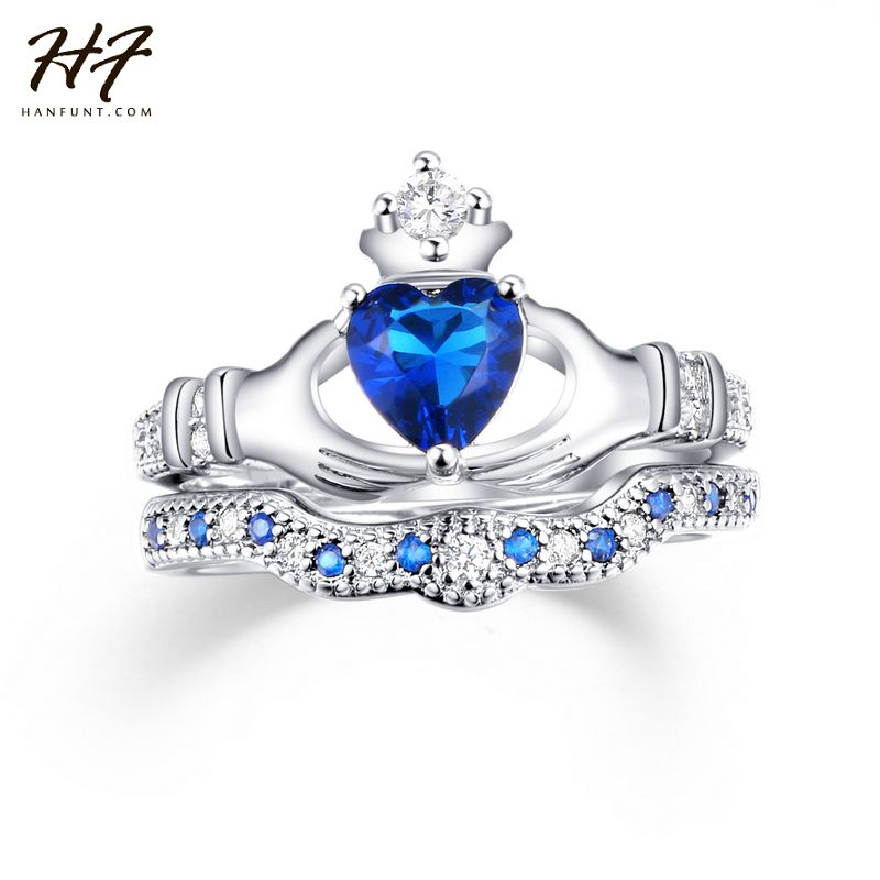 Heart Claddagh Ring For Women