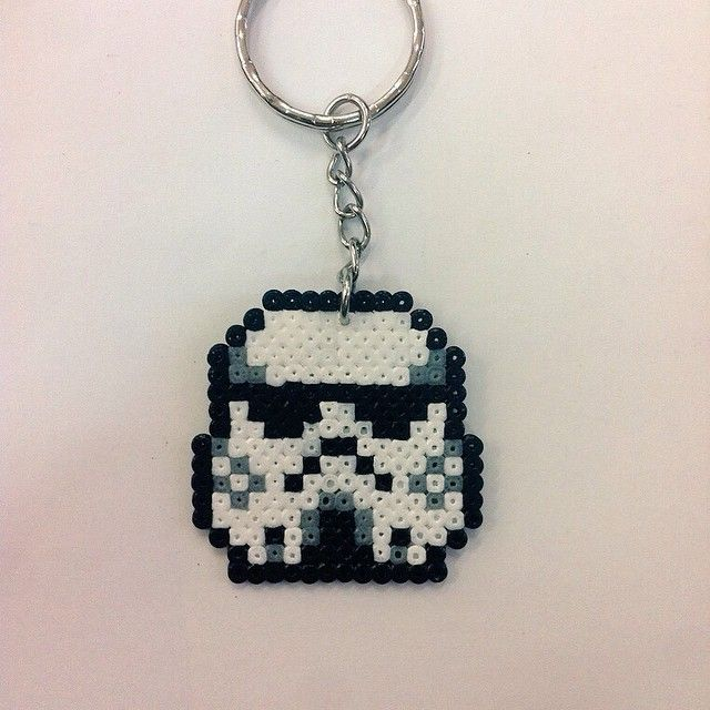 stormtrooper keyring star wars hama mini beads by goamigurumis perler beads pinterest. Black Bedroom Furniture Sets. Home Design Ideas