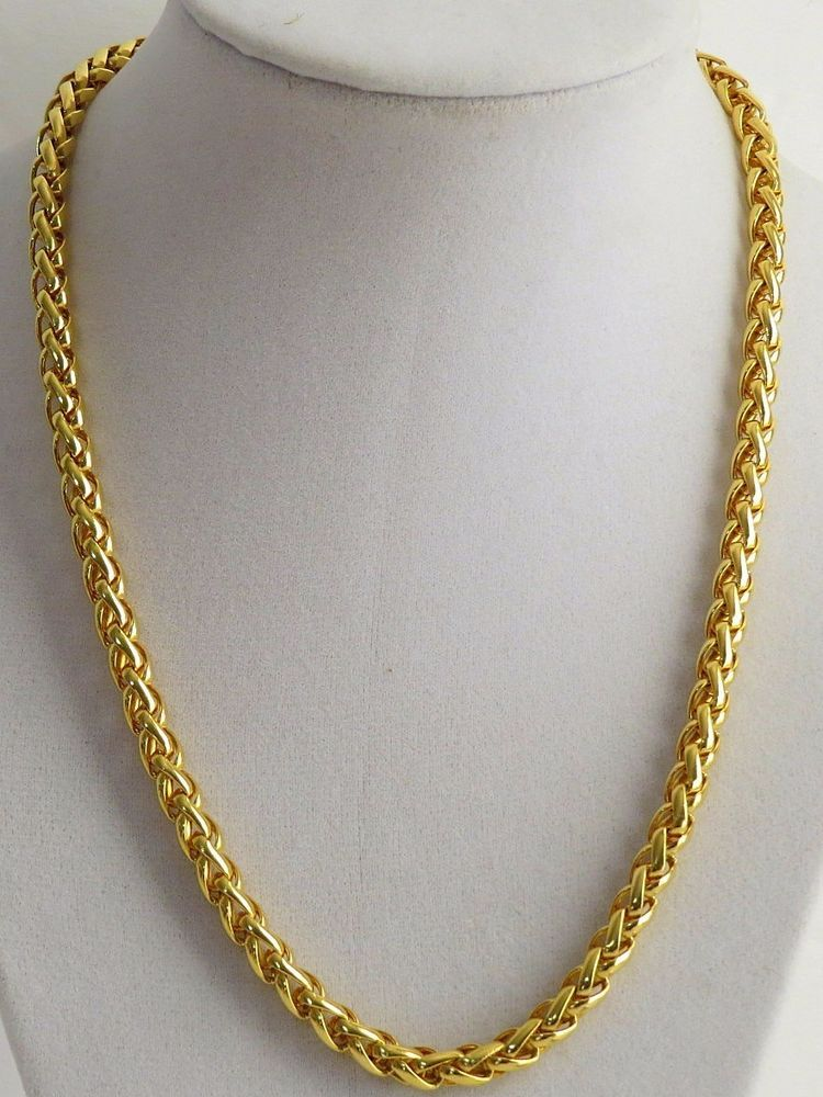 0bedb0da41d Details about Vintage Gold tone Braided Chain Necklace in 2019 ...