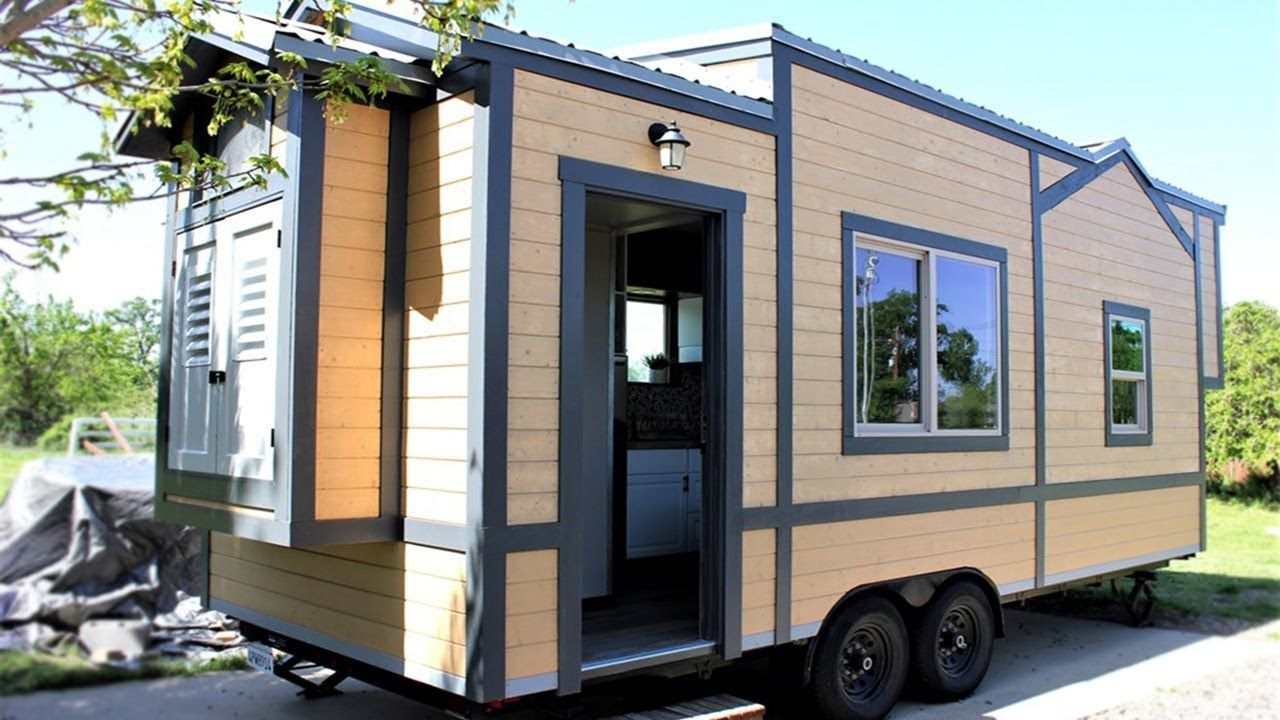 25ft Luxury Tiny House For Sale in Cottonwood, California | Le Tuan on tiny mobile home, tiny mobile house plans, tiny mobile house designs,