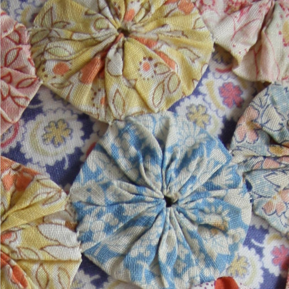 Image From Vintage 1930s Suffolk Puff Or Yo Yo Lampshade Fabric Art Sewing Projects Quilts