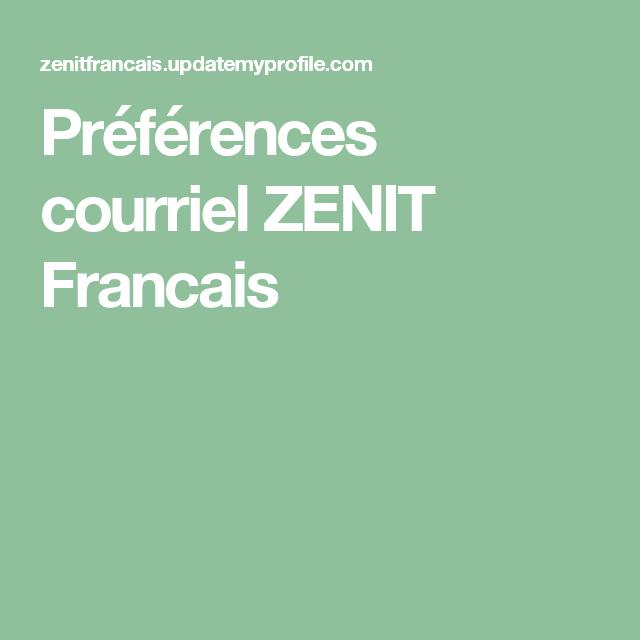 Préférences courriel ZENIT Francais