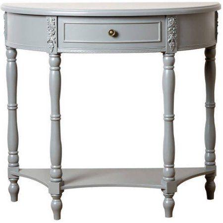 Devon & Claire Alotian Antiqued Console Sofa Table, Multiple Colors, Blue