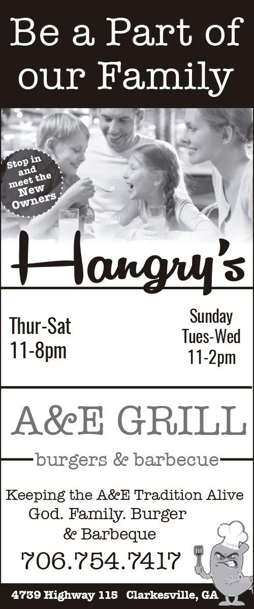 hangry's a  e grillclarkesvillegeorgia georgia