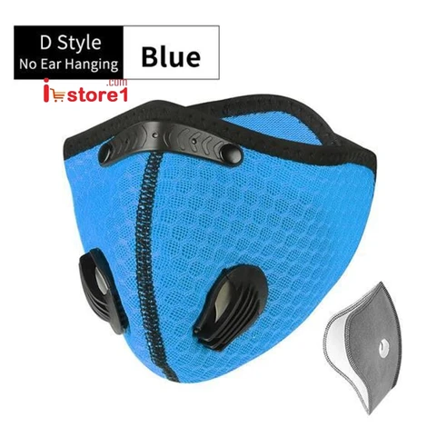 Antiviral Anti Dust Sport Face Mask With Filter Activated