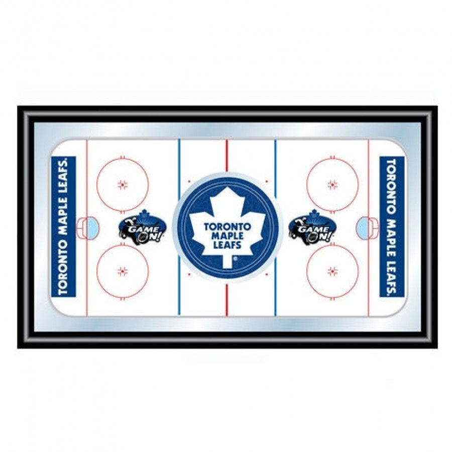 Trademark global nhl toronto maple leafs framed hockey rink mirror