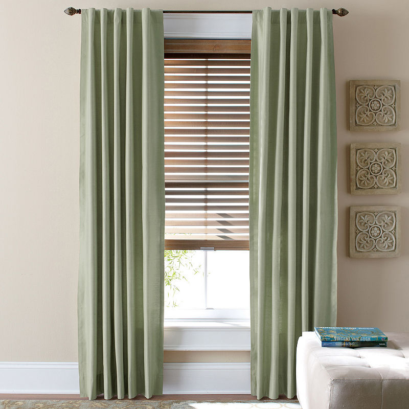 Jcpenney Home Supreme Thermal Rod Pocket Back Tab Curtain Panel