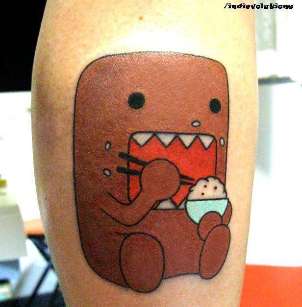 domo kun tattoo wow tattoos tattoos cartoon tattoos love