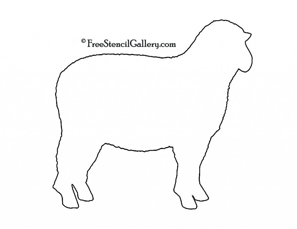 Sheep Silhouette 01 Stencil