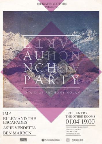 """Launch Party Poster: by The Good Ship/Tom McQuillin 