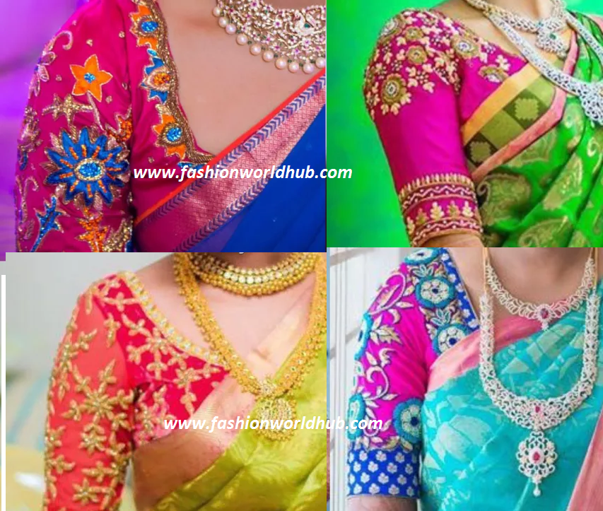997a2d550a5 Latest Maggam work blouse designs 2016! Awesome designs Are you looking for  the latest designer maggam work blouses with heavy zardosi