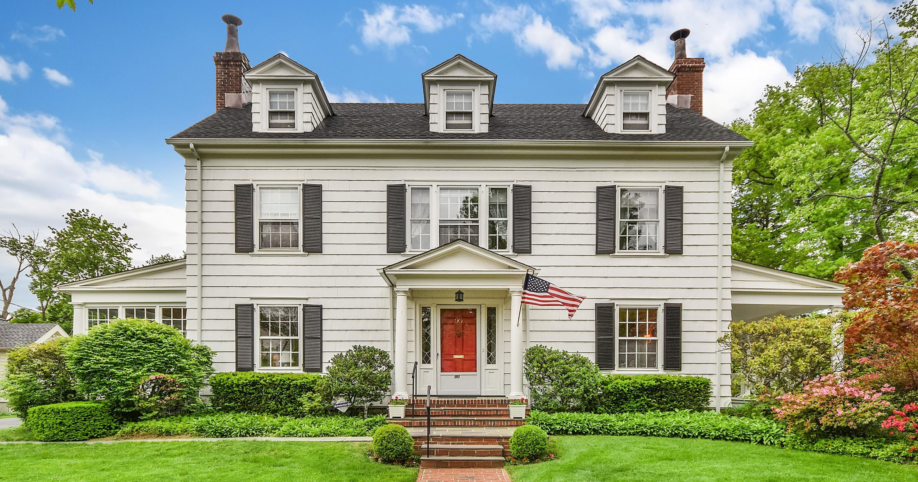 The picture perfect center hall colonial from the first episode of mad men has come on the market for 1 115 million