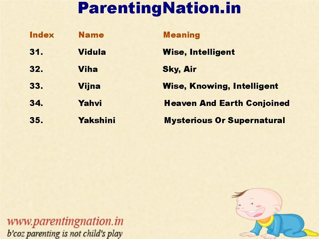 Parentingnation In Provides Unique Baby Girl Names With Meaning That