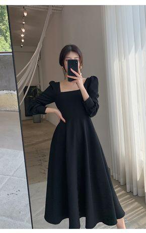 R$114.14 37% de desconto|Vestidos coreanos de uma
