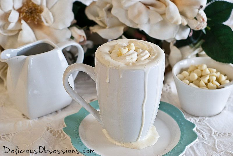 Peppermint White Hot Chocolate Recipe (Dairy Free