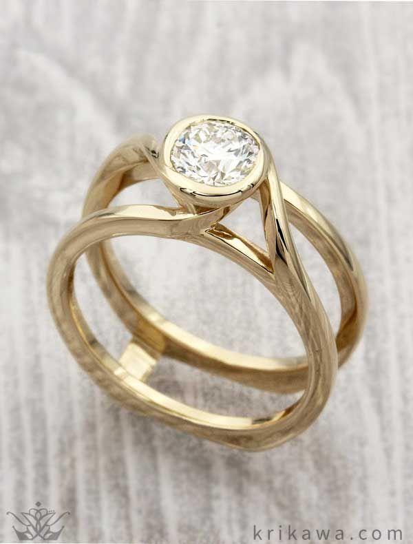 Swirl Scaffolding Engagement Ring - Choose any wedding band